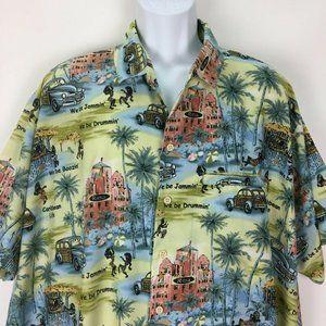 Rima XXL We Be Jammin Hawaiian Shirt Mens Beach